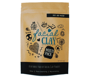 Facial Clay Mask Assortment Pack | Multi Pack of 4 Types of Clay Powders