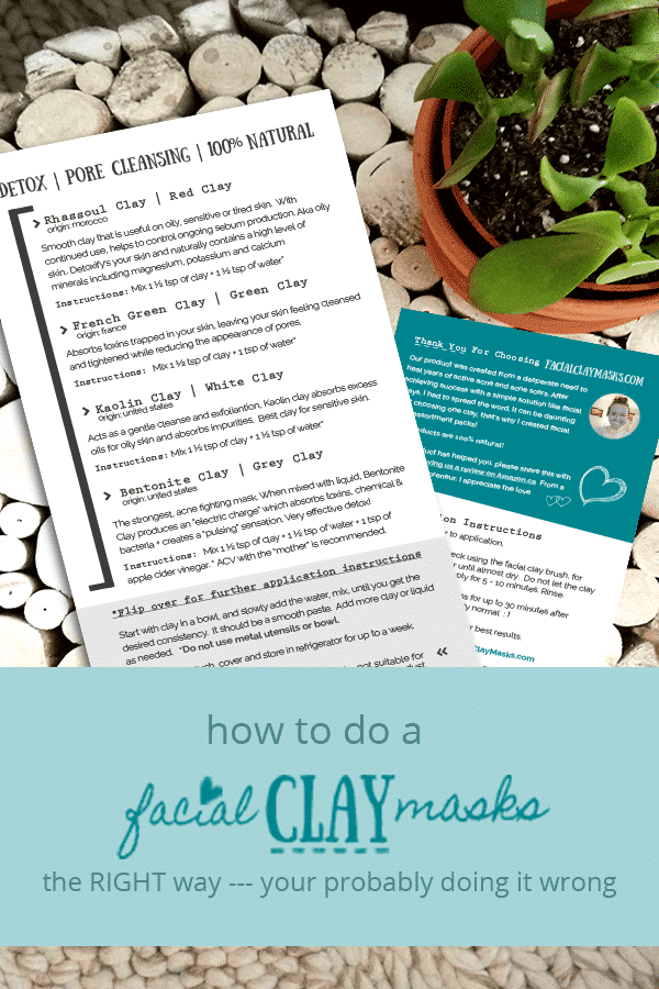 How to do a Clay Face Mask Instructions