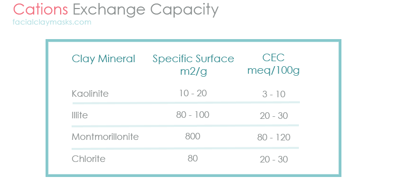 Cations Exchange Capacity of Clay Mineral Type
