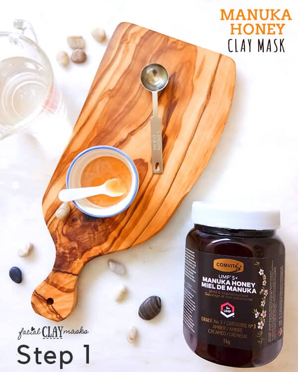 Manuka Honey Clay Face Mask Step 1