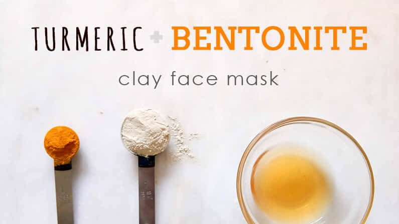 turmeric and bentonite clay face mask