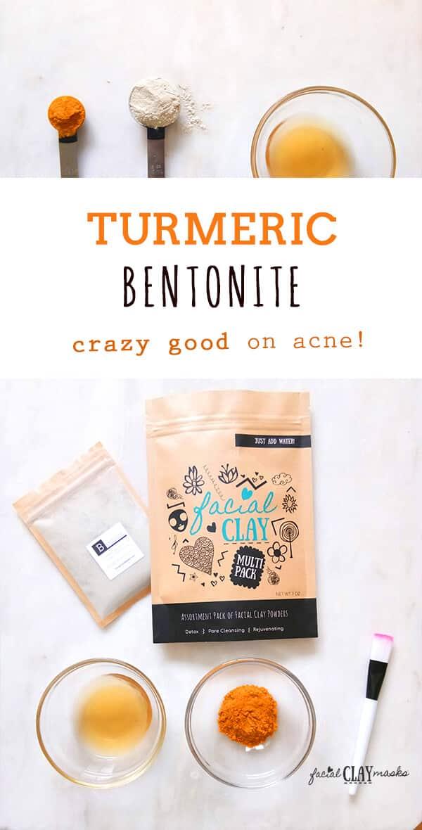Turmeric Bentonite Clay Mask for Acne