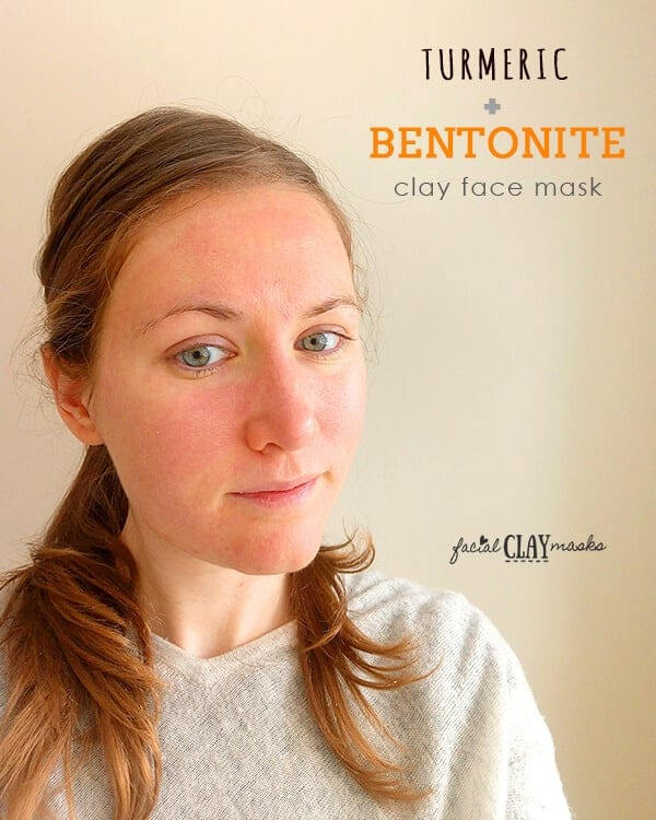 Turmeric Bentonite Clay Mask After