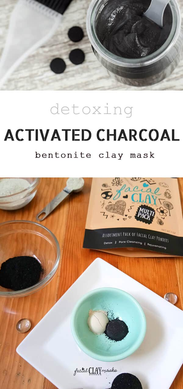 Detoxing Activated Charcoal and Bentonite Clay Face Mask Recipe
