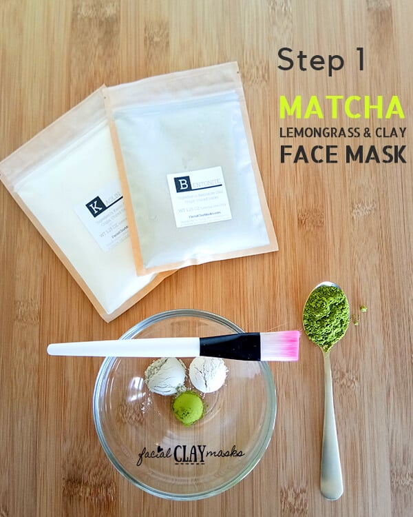 Matcha Clay Mask Recipe Step 1