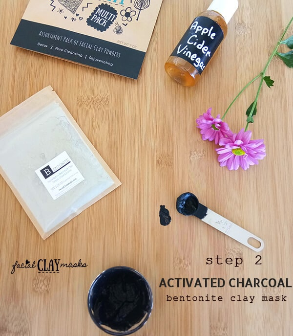 Activated Charcoal and Bentonite Clay Mask Instructions Step 2