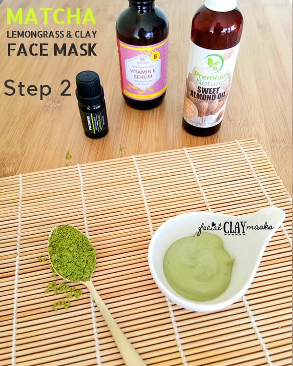 Matcha Clay Mask Recipe Step 2 Instructions