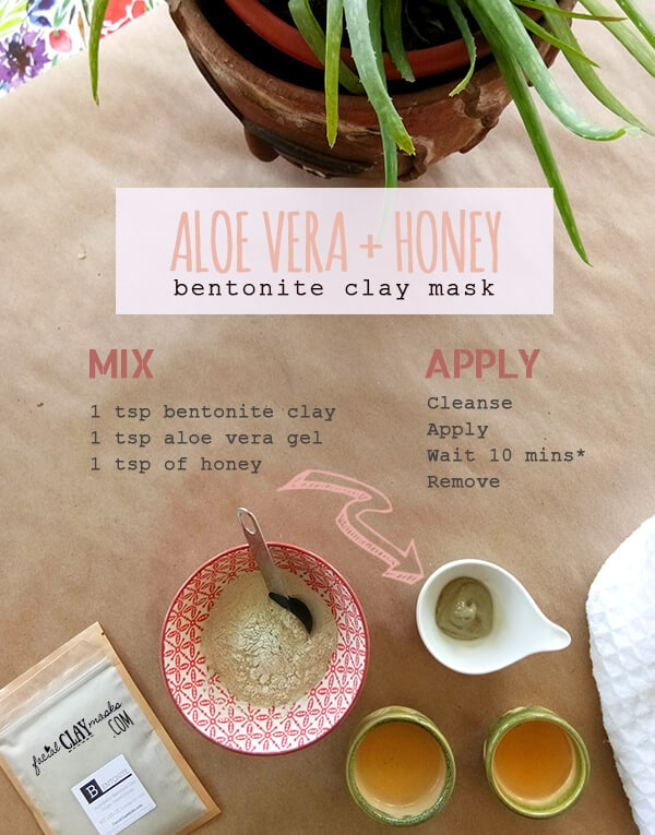 The BEST Aloe Vera Clay Mask Recipe with Honey + Bentonite 3