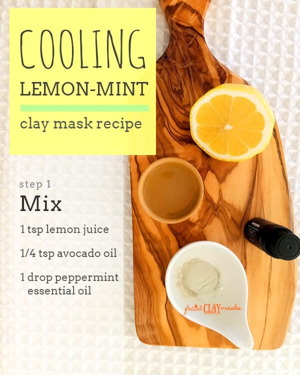Cooling Lemon Mint Clay Mask for All Skin Types 7