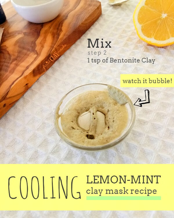 Cooling Lemon Mint Clay Mask for All Skin Types 8