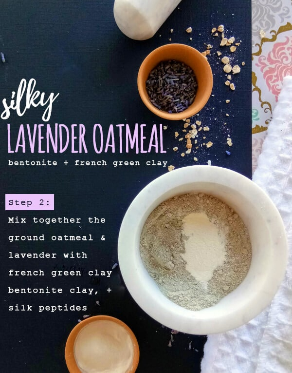 Dry Silky Lavender Oatmeal Clay Mask 4