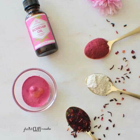 Simple Hibiscus Clay Mask