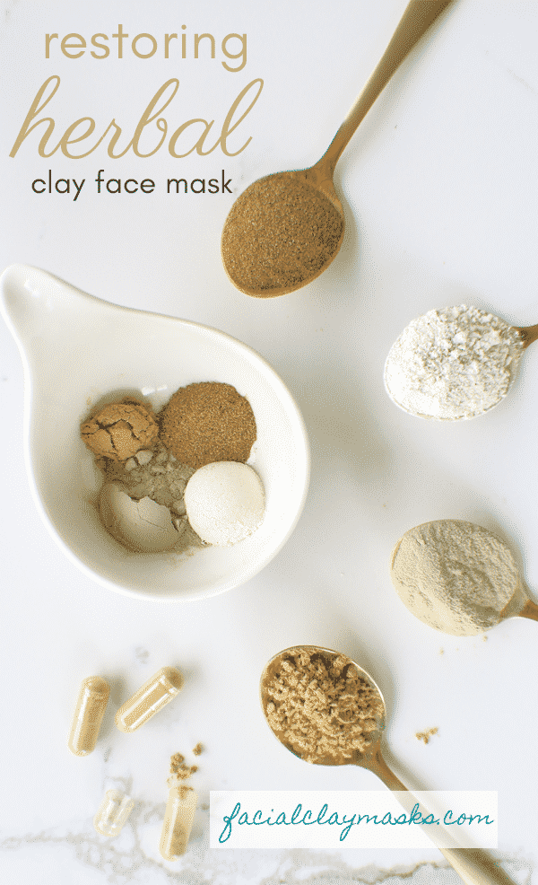 Recipe Instructions for How to Mix a Herbal Clay Mask