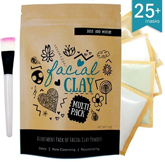 facial clay mask assortment pack