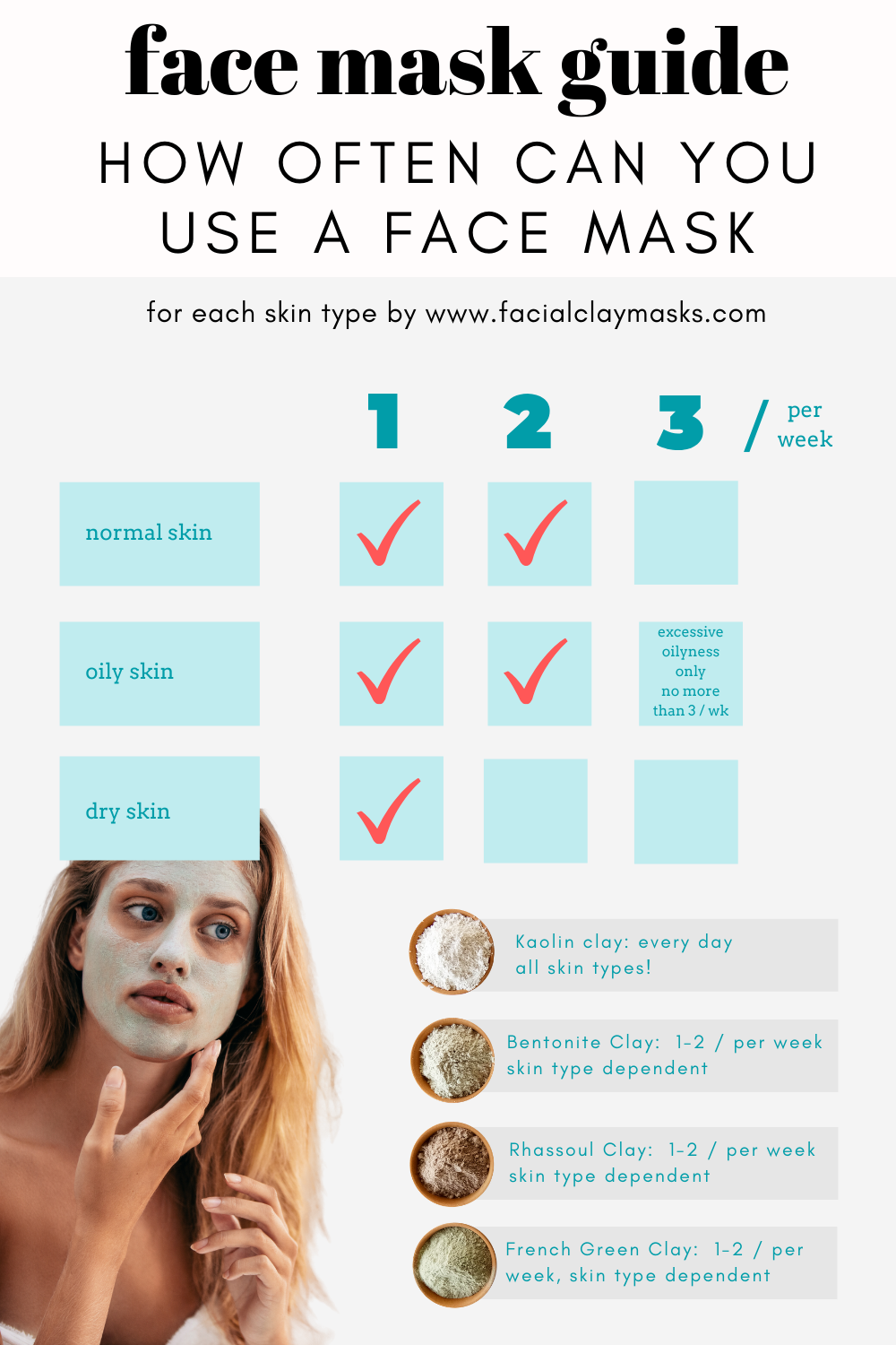 Can you use a clay mask everyday? 2