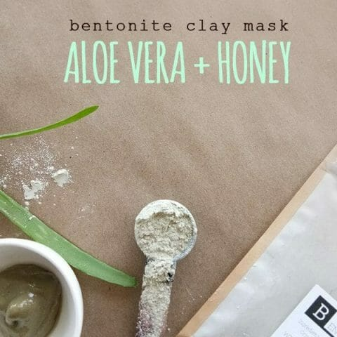The BEST Aloe Vera Clay Mask Recipe with Honey + Bentonite