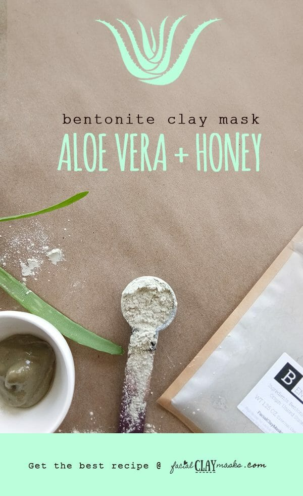 The BEST Aloe Vera Clay Mask Recipe with Honey + Bentonite 5